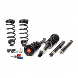 Arnott New Coil Spring Conversion Kit w/EBM - Mercedes-Benz 03-09 E-Class (W211)/ 05-11 CLS-Class (W219) - w/AIRMATIC & ADS, w/o 4MATIC, excl Wagon